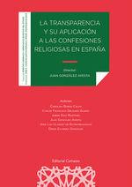 TRANSPARENCIA Y SU APLICACION A LAS CONFESIONES RELIGIOSAS EN ESPAÑA