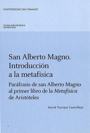 SAN ALBERTO MAGNO. INTRODUCCIÓN A LA METAFÍSICA