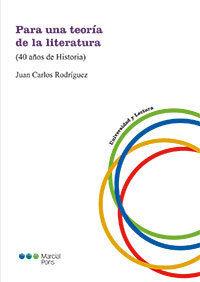PARA UNA TEORÍA DE LA LITERATURA