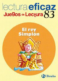 EL REY SIMPLÓN JUEGO LECTURA