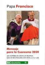 MENSAJE PARA LA CUARESMA 2020