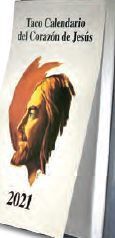 TACO CALENDARIO CORAZÓN DE JESÚS 2021 PARED