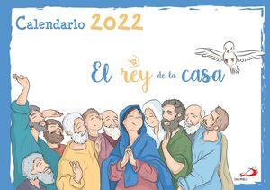 CALENDARIO PARED EL REY DE LA CASA 2022 (33 X 24 CM)