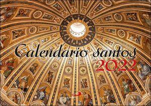 CALENDARIO PARED SANTOS 2022 (29,7 X 21 CM)