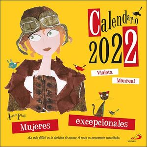 CALENDARIO PARED MUJERES EXCEPCIONALES 2022 (29,7 X 29,7 CM)