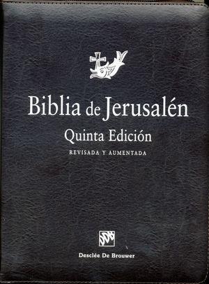 BIBLIA DE JERUSALÉN - MANUAL CREMALLERA MARRÓN