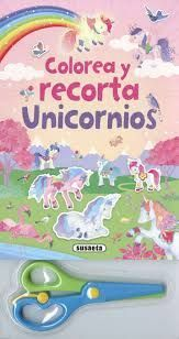 UNICORNIOS (COLOREA Y RECORTA)