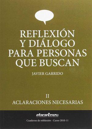 REFLEXION Y DIALOGO PARA PERSONAS QUE II