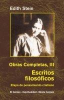 EDIHT STEIN. OBRAS COMPLETAS III