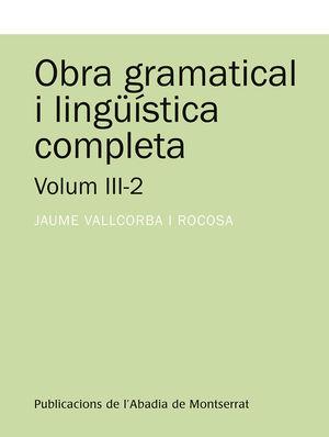 OBRA GRAMATICAL I LINGŠISTICA COMPLETA III-2