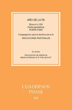 AÑO DE LA FE. CARTA APOSTÓLICA 'PORTA FIDEI'