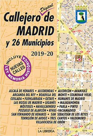 CALLEJERO DIGITAL DE MADRID Y 26 MUNICIPIOS 2019-2020