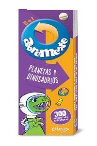 ABREMENTE 2 EN 1 - PLANETAS Y DINOSAURIOS